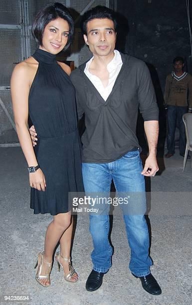 Actors Uday Chopra and Priyanka Chopra at an event in Mumbai on Tuesday December 8 2009