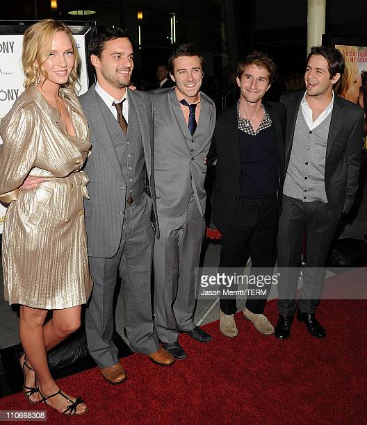 Actors Uma Thurman Jake M Johnson Reece Thompson Writer/Director Max Winkler and actor Michael Angarano arrive at the Ceremony Los Angeles premiere...