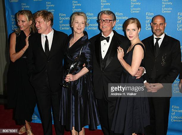 Actors Uma Thurman Robert Redford Meryl Streep director Mike Nichols actress Amy Adams and actor Stanley Tucci attend the Film Society of Lincoln...