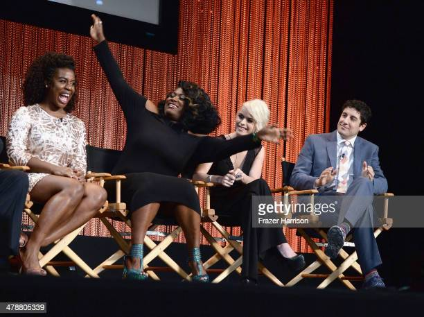 Actors Uzo Aduba Danielle BrooksTaryn Manning and Jason Biggs on stage at The Paley Center For Media's PaleyFest 2014 Honoring 'Orange Is The New...