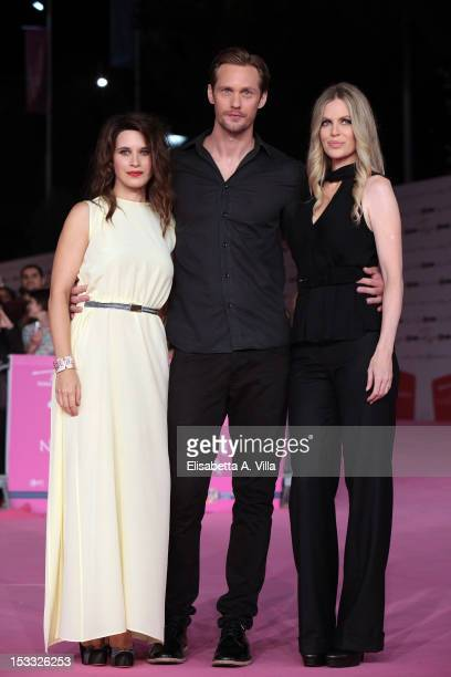 Actors Valentina Cervi Alexander Skarsgard and Kristin Bauer attend 'True Blood 5' premiere during the 2012 RomaFictionFest at Auditorium Parco della...