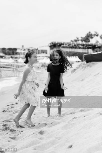 Actors Valeria Cotto Brooklynn Prince are photographed on May 22 2017 in Cannes France