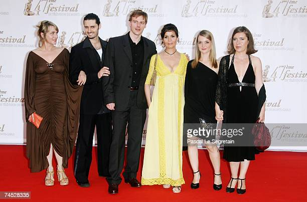 Actors Valerie BagnouBeido Jalil Naciri unidentified guest Muriel Combeau Raphaelle Lubansu and director Claire de La Rochefoucauld attend the...