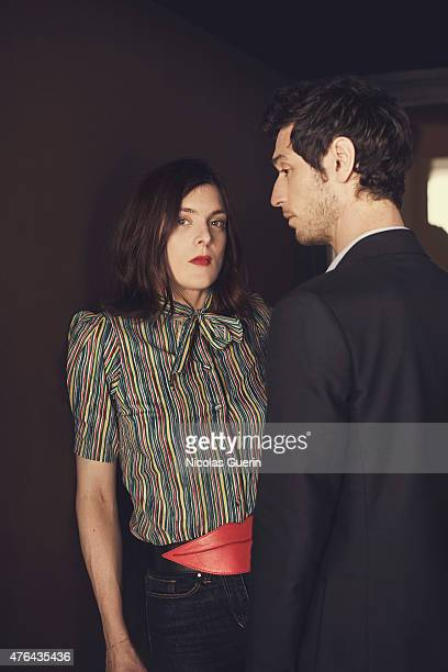 Actors Valerie Donzelli and Jeremie Elkaim are photographed for Self Assignment on May 15 2015 in Cannes France