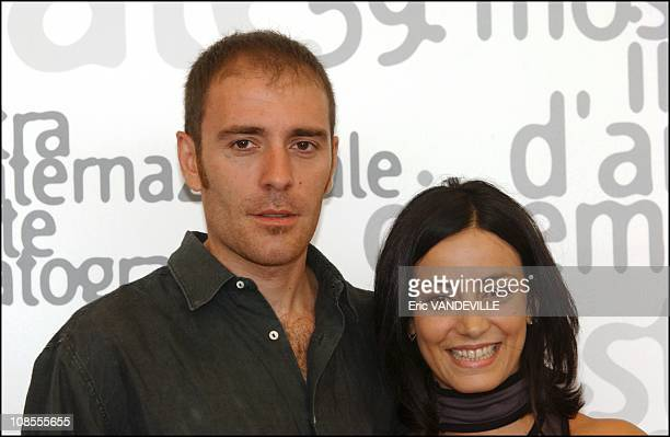 Actors Valerio Mastandrea and Alessia Barela in Venice Italy in September 2002