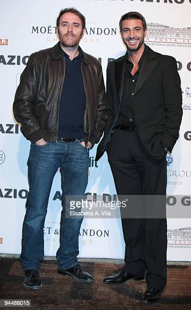 Actors Valerio Mastandrea and Daniele Liotti attends Gala Dinner In Favour Of Pietro Gamba Association at Officine Farneto on December 15 2009 in...