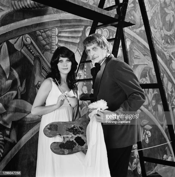 Actors Valli Kemp as Vulnavia and Vincent Price as Dr Anton Phibes in a publicity still for the horror film 'Dr Phibes Rises Again', UK, 6th January...