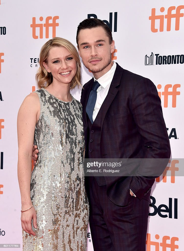 Actors Valorie Curry and Sam Underwood attend the 'American Pastoral' premiere during the 2016 Toronto International Film Festival at Princess of Wales Theatre on September 9, 2016 in Toronto, Canada.