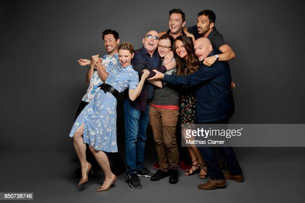 Actors Valorie Curry Brendan Hines Jackie Earle Haley Peter Serafinowicz Griffin Newman Scott Speiser Yara Martinez and Michael Cerveris from The...