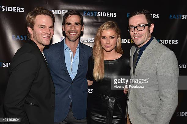 Actors Van Hansis Matthew McKelligon Brianna Brown and writer/director Matthew McKelligon attend the premiere of Go Team Entertainment's EastSiders...