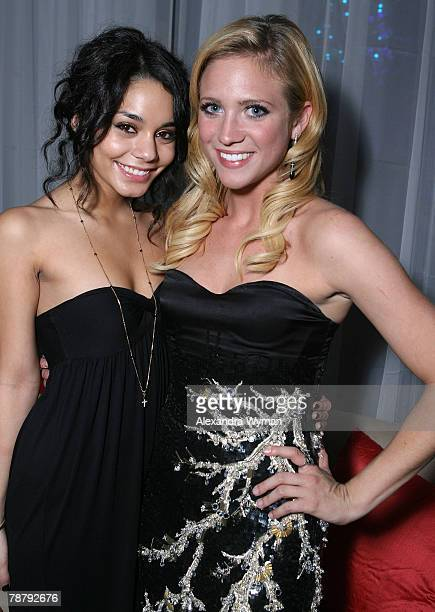 Actors Vanessa Anne Hudgens and Brittany Snow attend the 19th Annual Palm Springs International Film Festival Awards Gala After Party Hosted by...