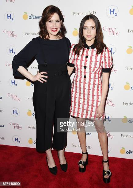 Actors Vanessa Bayer and Bel Powley attend the Carrie Pilby New York Screening at Landmark Sunshine Cinema on March 23 2017 in New York City