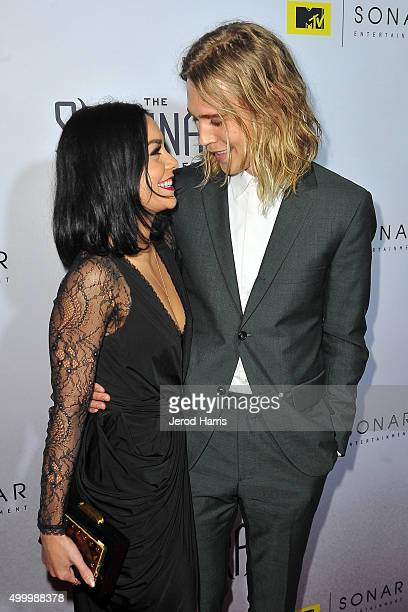 Actors Vanessa Hudgens and Austin Butler attend the series premiere party for 'The Shannara Chronicles' On MTV at iPic Theaters on December 4 2015 in...