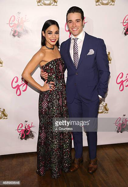 Actors Vanessa Hudgens and Corey Cott attend the Gigi Broadway Opening Night After Party at Tavern On The Green on April 8 2015 in New York City