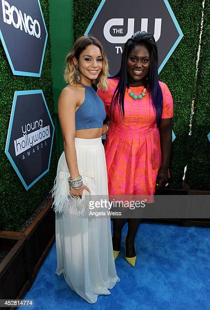 Actors Vanessa Hudgens and Danielle Brooks attend the 2014 Young Hollywood Awards brought to you by Samsung Galaxy at The Wiltern on July 27 2014 in...