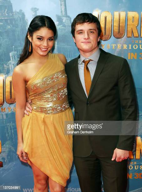 Actors Vanessa Hudgens and Josh Hutcherson arrive for the world premiere of Journey 2 The Mysterious Island at Village Cinemas Jam Factory on January...