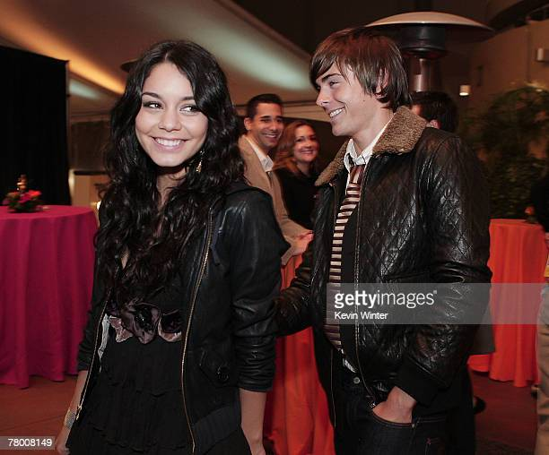 Actors Vanessa Hudgens and Zac Efron arrive at the afterparty celebrating the DVD release of Disney Channels' High School Musical 2 Extended Edition...