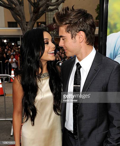 Actors Vanessa Hudgens and Zac Efron arrive at the premiere of Universal Pictures' Charlie St Cloud at the Village Theater on July 20 2010 in Los...