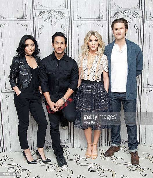 Actors Vanessa Hudgens Carlos PenaVega Julianne Hough and Aaron Tveit attend the AOL Build Speaker Series to discuss the television production of...