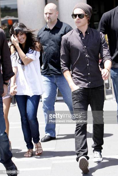 Actors Vanessa Hudgens Zac Efron and Ashley Tisdale arrive in Sydney before the Australian Premiere of 'High School Music 3 Senior Year' at Sydney...