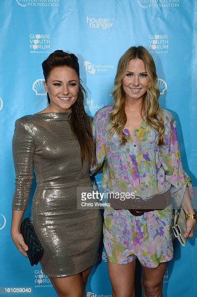 Actors Vanessa Lee Evigan and Briana Evigan join mPowering Action a global mobile youth movement at Grammy Week launch featuring performances by...