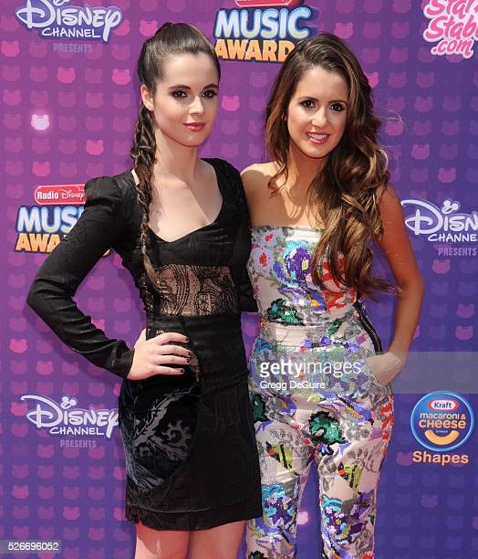 Actors Vanessa Marano and Laura Marano arrive at the 2016 Radio Disney Music Awards at Microsoft Theater on April 30 2016 in Los Angeles California