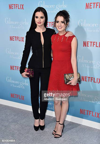 Actors Vanessa Marano and Laura Marano attend the premiere of Netflix's 'Gilmore Girls A Year In The Life' at the Regency Bruin Theatre on November...