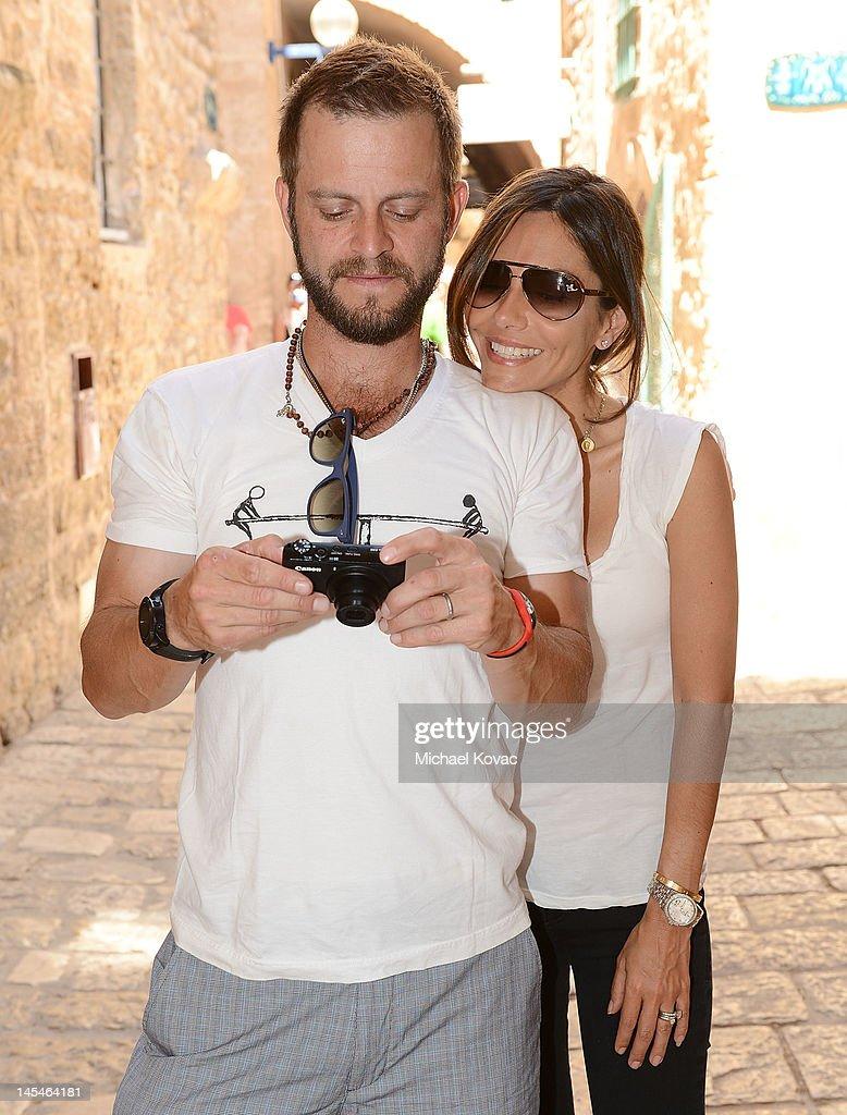 Actors Vanessa Marcil and Carmine Giovinazzo visit Jaffa's ...