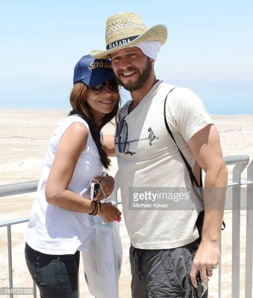 Actors Vanessa Marcil and Carmine Giovinazzo visit Masada ...