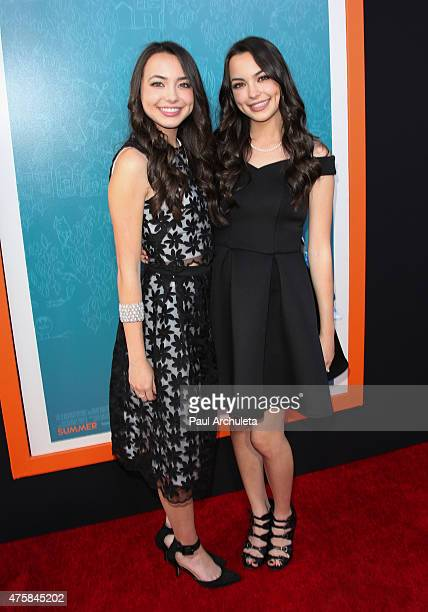 Actors Vanessa Merrell and Veronica Merrell attend the Me And Earl And The Dying Girl premiere at The Harmony Gold Theatre on June 3 2015 in Los...