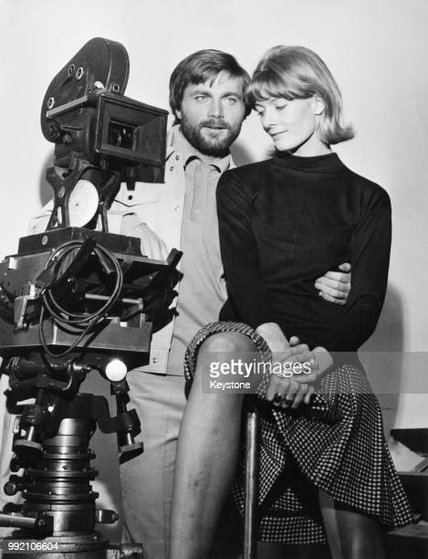 Actors Vanessa Redgrave and her offscreen partner Franco Nero during a press conference for their film 'A Quiet Place in the Country' Rome Italy...