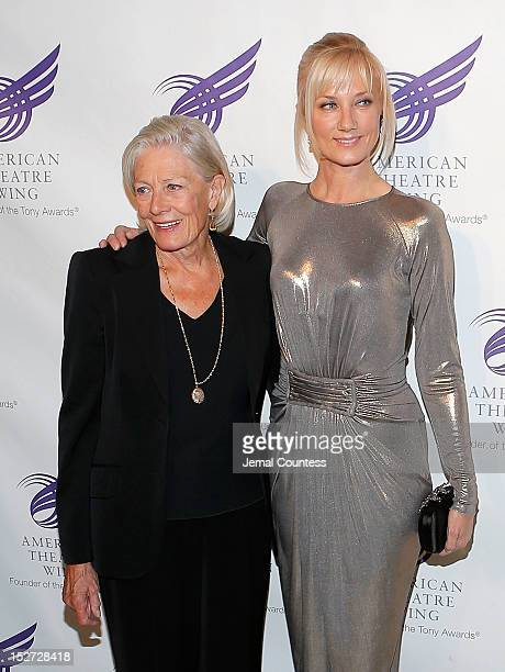 Actors Vanessa Redgrave and Joely Richardson attend The American Theatre Wing's 2012 Annual Gala at The Plaza Hotel on September 24 2012 in New York...