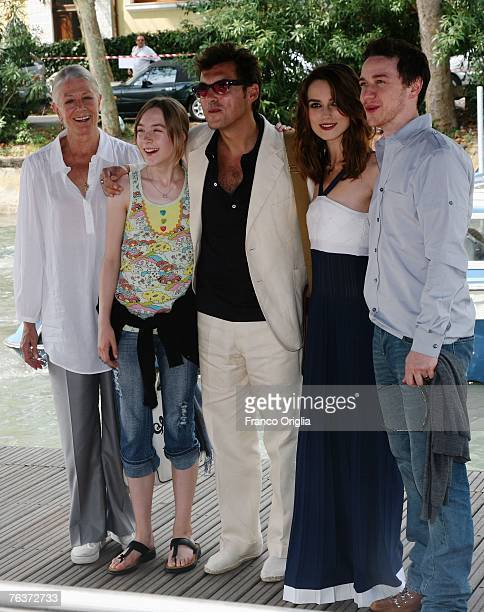 Actors Vanessa Redgrave Saoirse Ronan director Joe Wright actors Keira Knightley and James McAvoy attend the Atonement Photocall during Day 1 of the...