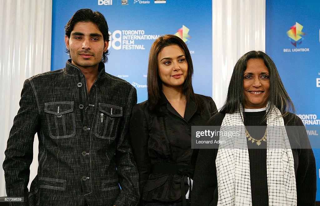 Actors Vansh Bhardwaj Preity Zinta and director Deepa Mehta speak at the `Heaven On Earth` press conference during the 2008 Toronto International...