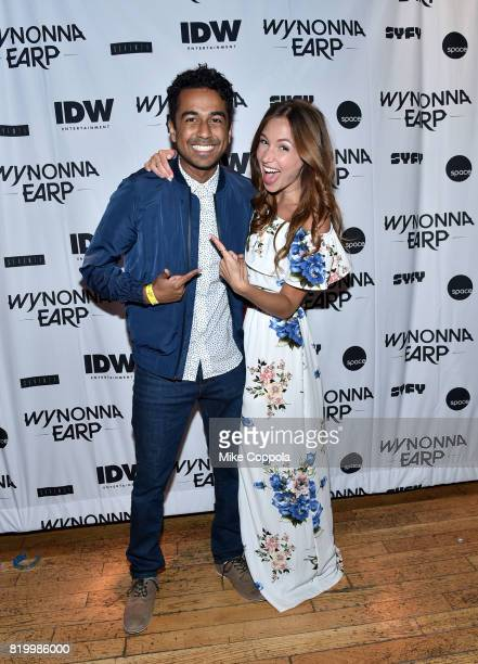 Actors Varun Saranga and Dominique ProvostChalkley at the 'Wynonna Earp' Media Mixer with cast and Fan Appreciation Party during ComicCon...