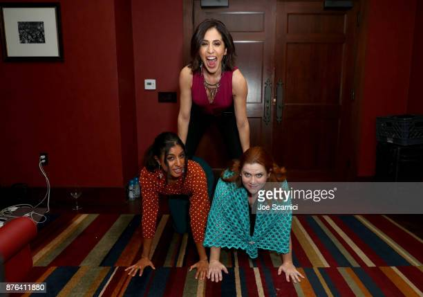 Actors Vella Lovell Gabrielle Ruiz and Donna Lynne Champlin attend the 'Crazy ExGirlfriend 100th Song Celebration SingaLong' event during Vulture...