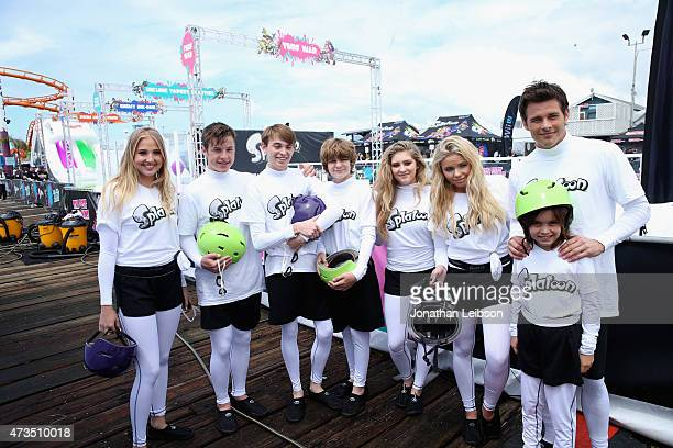 Actors Veronica Dunne Nolan Gould Dylan Riley Synder Ty Simpkins Willow Shields singer/model Alli Simpson actor James Marsden and his daughter Mary...