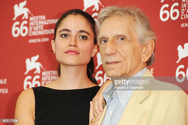 Actors Veronica Gentili and Roberto Herlitzka attend the Le Ombre Rosse photocall at the Palazzo del Casino during the 66th Venice Film Festival on...