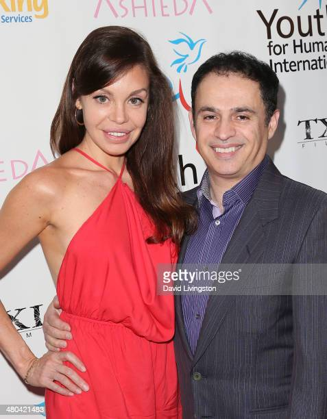 Actors Veronica Milagros and Isa Totah attend the Youth for Human Rights International celebrity benefit event at Beso on March 24 2014 in Hollywood...