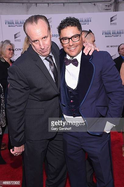 Actors Vic Dibitetto and Nicholas Turturro attend 'Paul Blart Mall Cop 2' New York Premiere at AMC Loews Lincoln Square on April 11 2015 in New York...