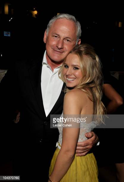 Actors Victor Garber and Kristen Bell attend You Again premiere after party held at the El Capitan Theatre on September 22 2010 in Hollywood...