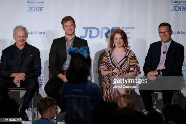 Actors Victor Garber Derek Theler and Jennifer Stone as well as JDRF President and CEO Aaron Kowalski participate in a panel during the JDRF 2019...