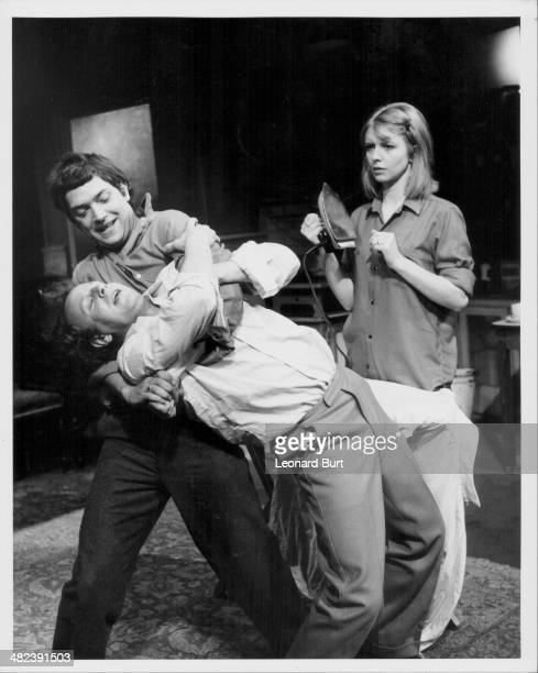 Actors Victor Henry Martin Shaw and Jane Asher on stage at the Royal Court Theatre in a production of 'Look Back in Anger' London October 24th 1968