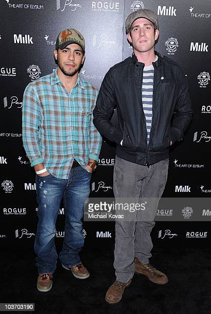 Actors Victor Rasuk and Bryan Greenberg arrive at The Art of Elysium's 2nd Annual Genesis Awards at Milk Studios on August 28 2010 in Hollywood...