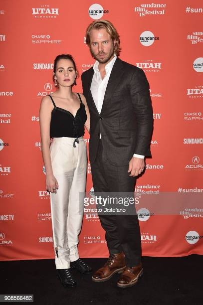 Actors Victoria Carmen Sonne and Thijs Romer attend the Holiday Premiere during the 2018 Sundance Film Festival at Prospector Square Theatre on...