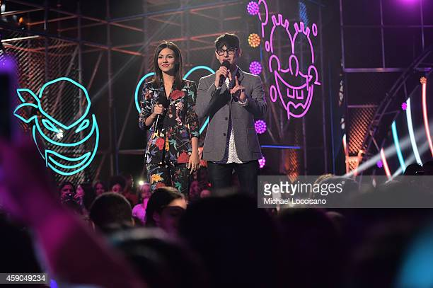 Actors Victoria Justice and Matt Bennett appear on stage at the Sixth Annual Nickelodeon HALO Awards in New York City The hourlong concert special...
