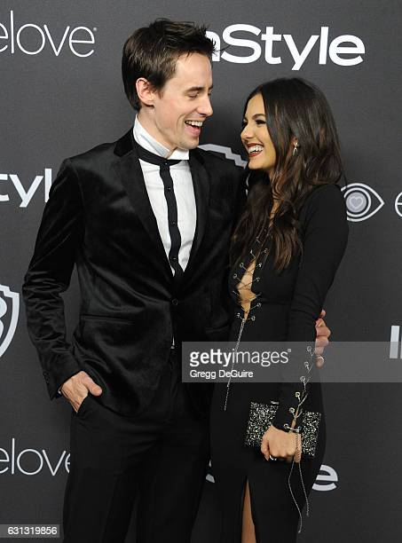 Actors Victoria Justice and Reeve Carney arrive at the 18th Annual PostGolden Globes Party hosted by Warner Bros Pictures and InStyle at The Beverly...