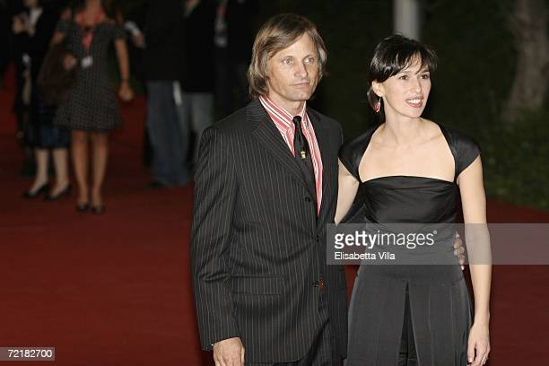 Actors Viggo Mortensen and Ariadna Gil attend the premiere of the movie Alatriste on the fourth day of Rome Film Festival on October 16 2006 in Rome...