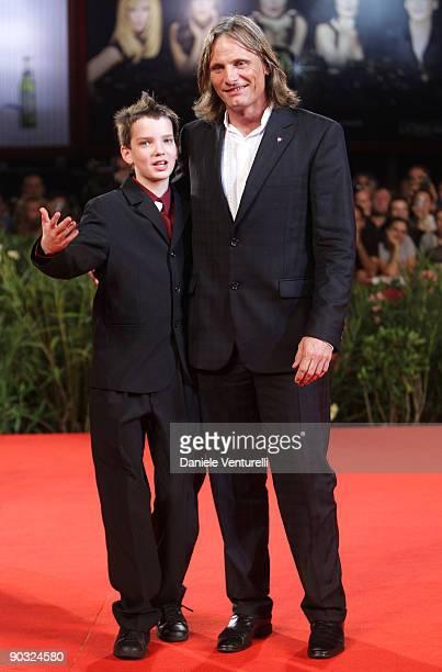 "Actors Viggo Mortensen and Kodi Smit McPhee attend ""The Road"" Premiere at the Sala Grande during the 66th Venice International Film Festival on..."
