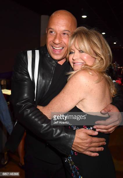 Actors Vin Diesel and Goldie Hawn attend the 2017 MTV Movie And TV Awards at The Shrine Auditorium on May 7 2017 in Los Angeles California